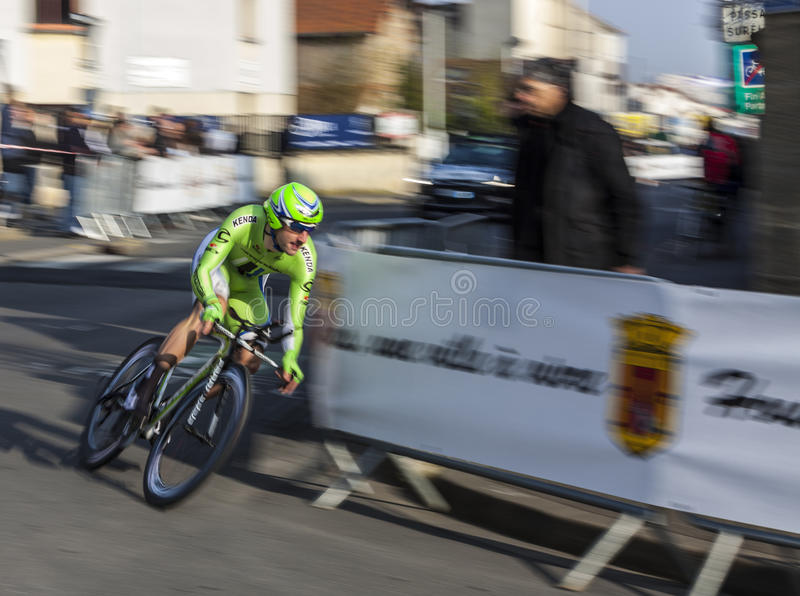 Paris- Nice Cycling Race Action Editorial Photo