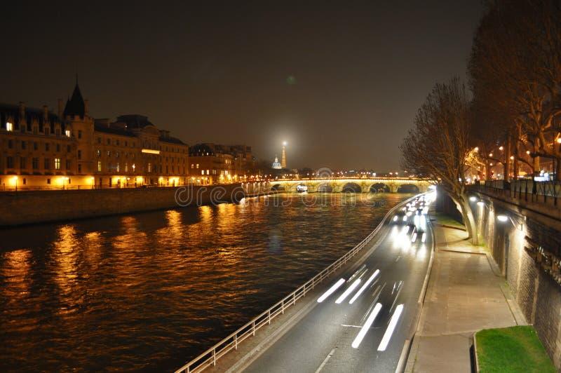 Paris night stock photo