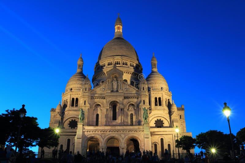 Download Paris at night stock image. Image of hill, basilica, landmark - 25141495