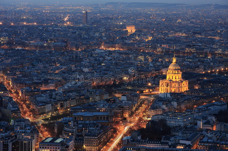 Download Paris by night stock image. Image of montparnasse, cityscape - 25491419
