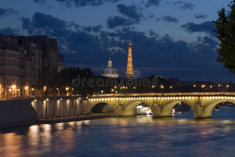Download Paris by night stock photo. Image of europe, travelling - 5849254