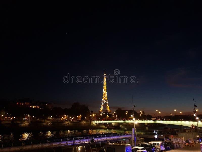 Paris night cityscape, France royalty free stock image