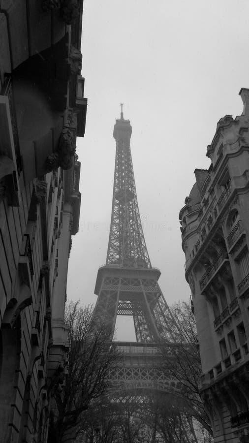 Paris no inverno fotografia de stock