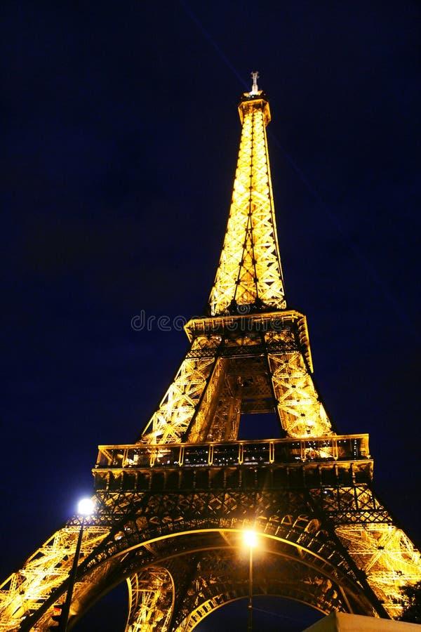 Paris noc wieża eiffla zdjęcie royalty free