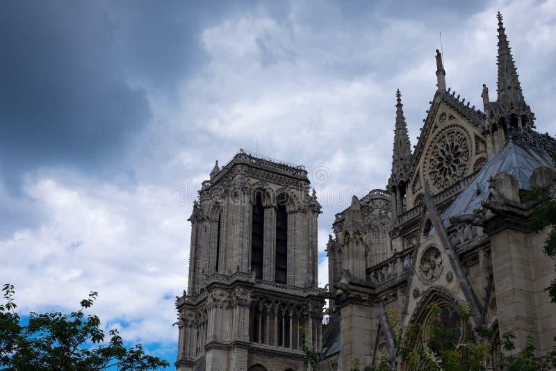 Paris Notre Dame 1 royaltyfria bilder