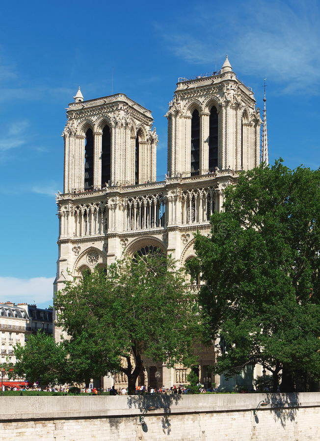 Paris, Notre Dame Cathedral royalty free stock photos