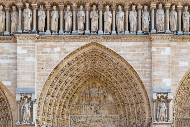 Paris, Notre-Dame cathedral royalty free stock photography