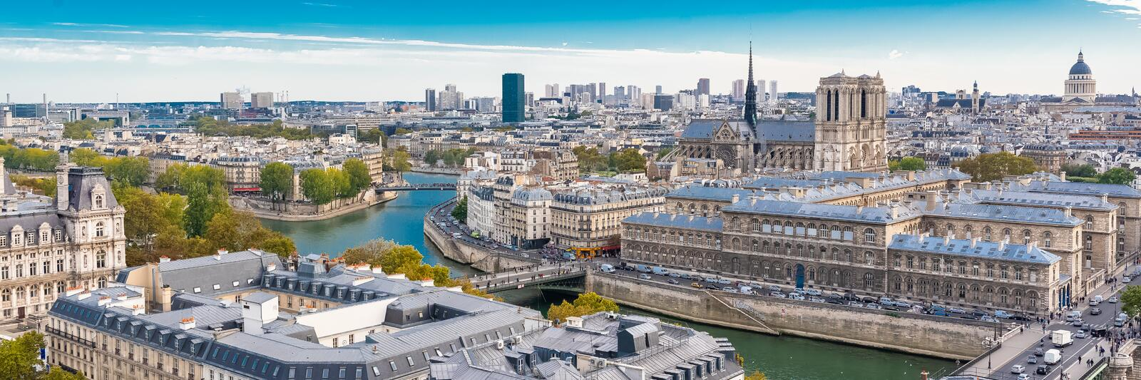 Paris, aerial view royalty free stock images