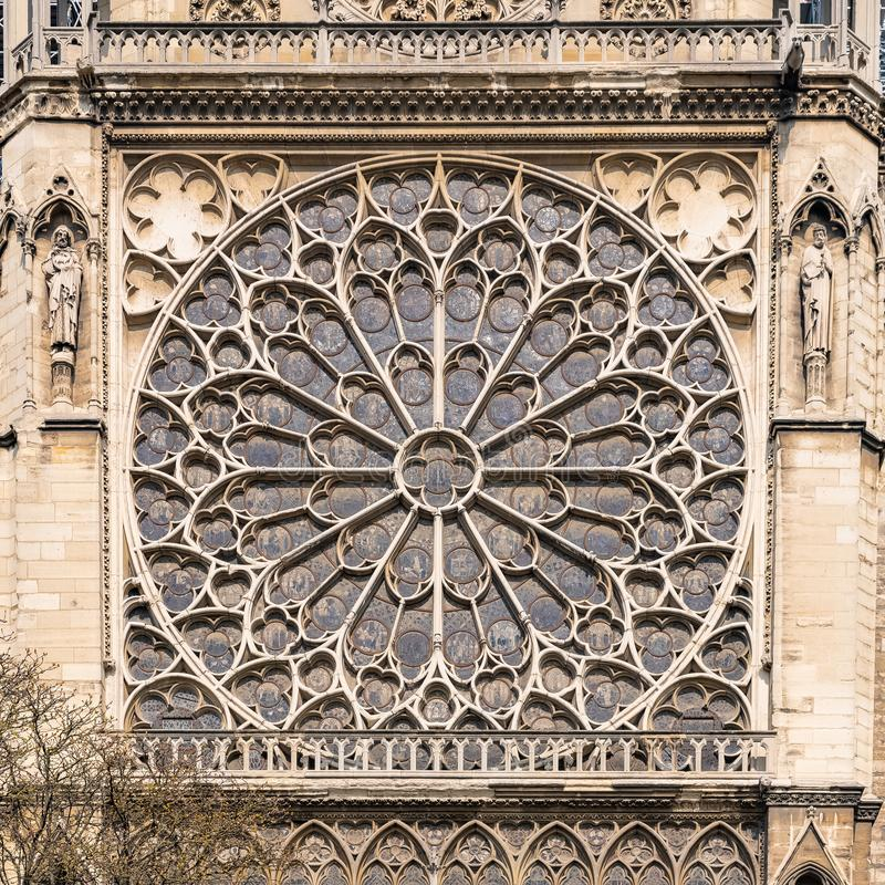 Paris, Notre-Dame cathedral stock image