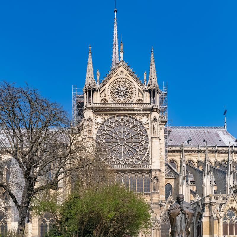 Paris, Notre-Dame cathedral royalty free stock photos