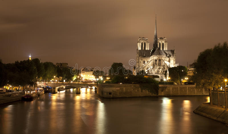 Download Paris - Notre-Dame At Night Stock Photo - Image of catholicism, church: 20082862