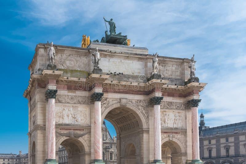 """Paris, o """"Arc de Triomphe du Carrossel """" fotos de stock royalty free"""