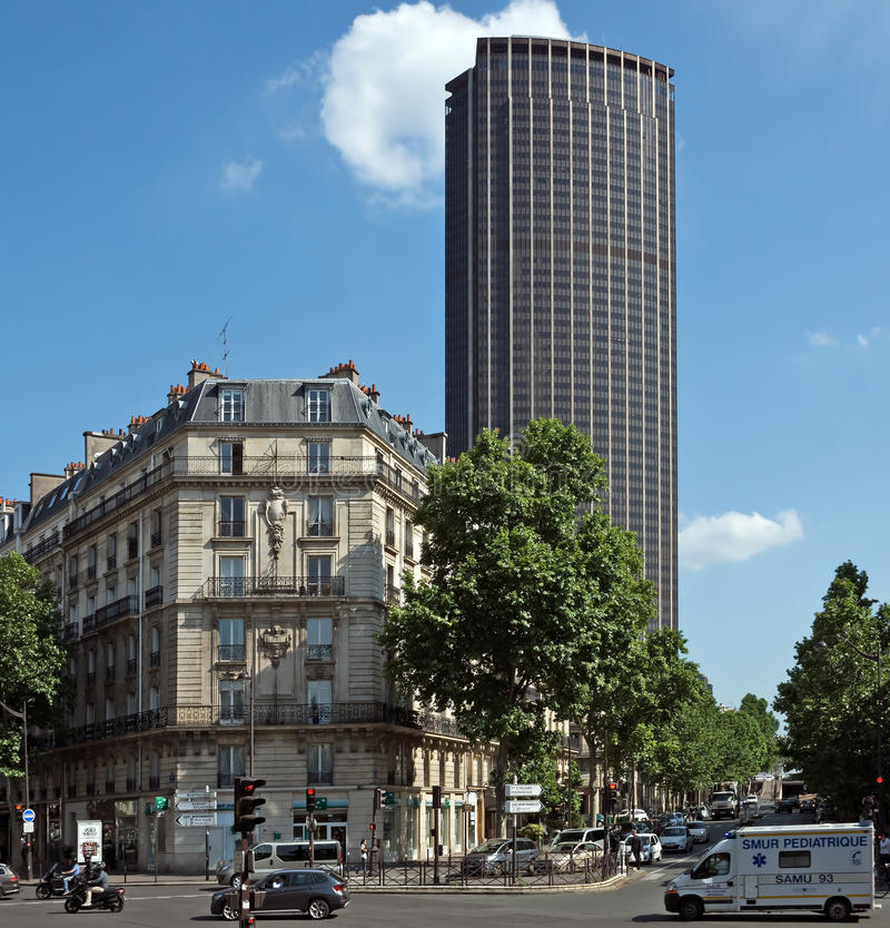 Modern Architecture France paris - old and modern architecture editorial image - image: 46552555