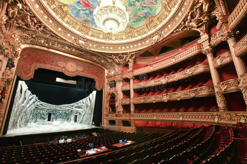 Paris Opera house in Paris, France stock images