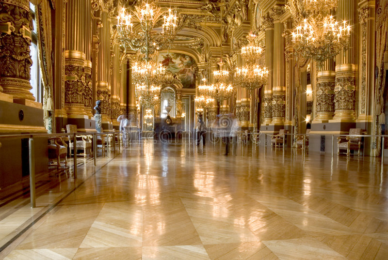 Paris-Opernhaus stockbild