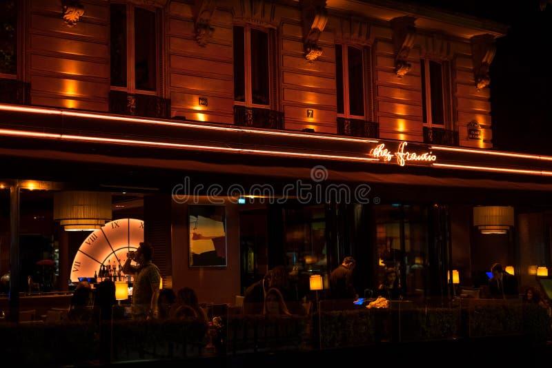 Paris på natt 5 fotografering för bildbyråer