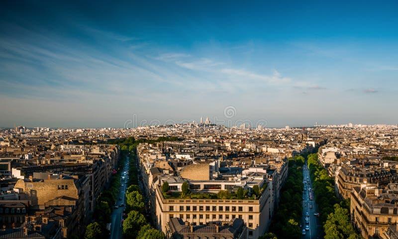 Paris panorama royaltyfri bild