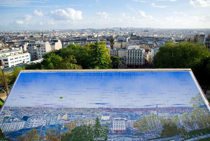 Paris panorama från Sacre Coeur royaltyfri bild