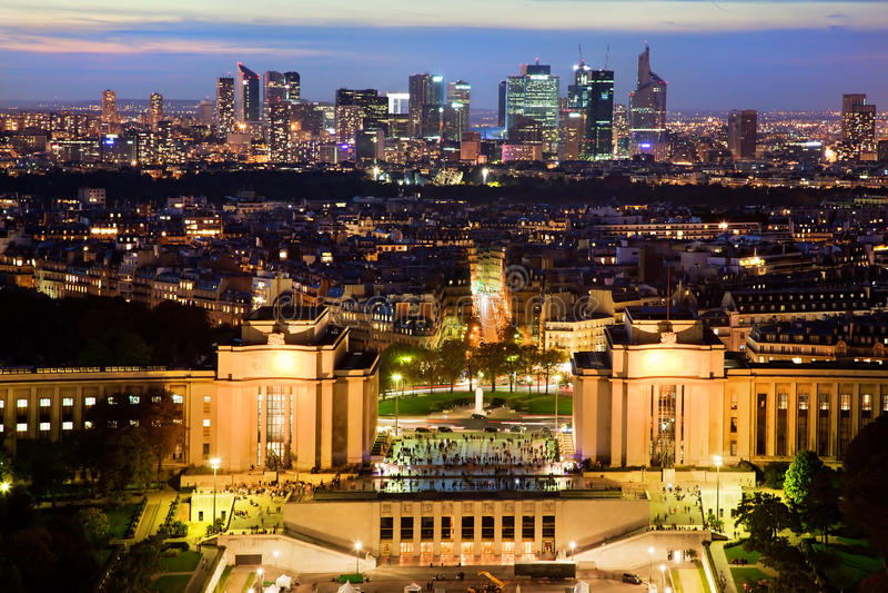 Download Paris Panorama, France At Night. Stock Photo - Image: 28437298
