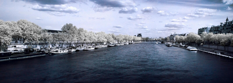 Paris-panoramische Ansicht lizenzfreies stockbild