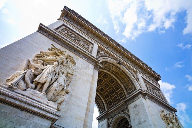 Paris, Paris, Frankreich. Bogen des Triumphes lizenzfreies stockfoto