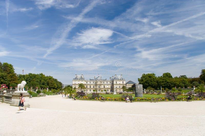Paris park royalty free stock photo