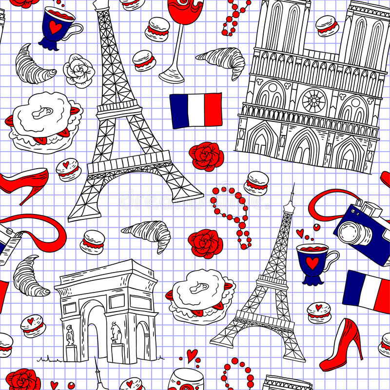 Download Paris Pattern Stock Vector - Image: 56985555