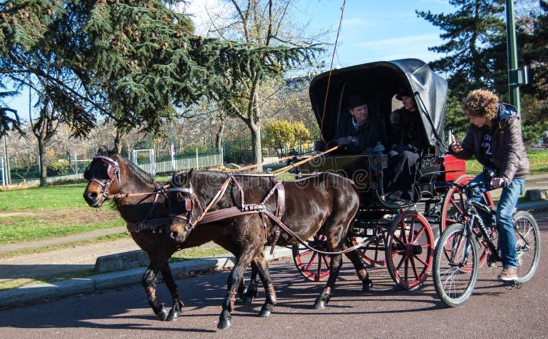 Paris-Pferdenparade stockfotos