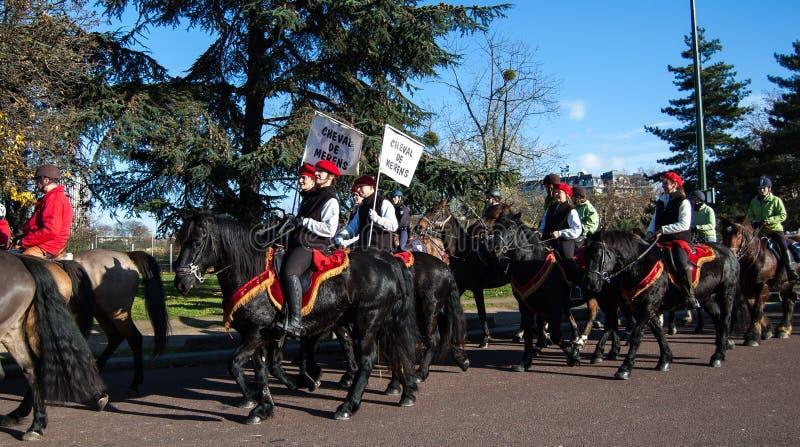 Paris-Pferdenparade stockbild