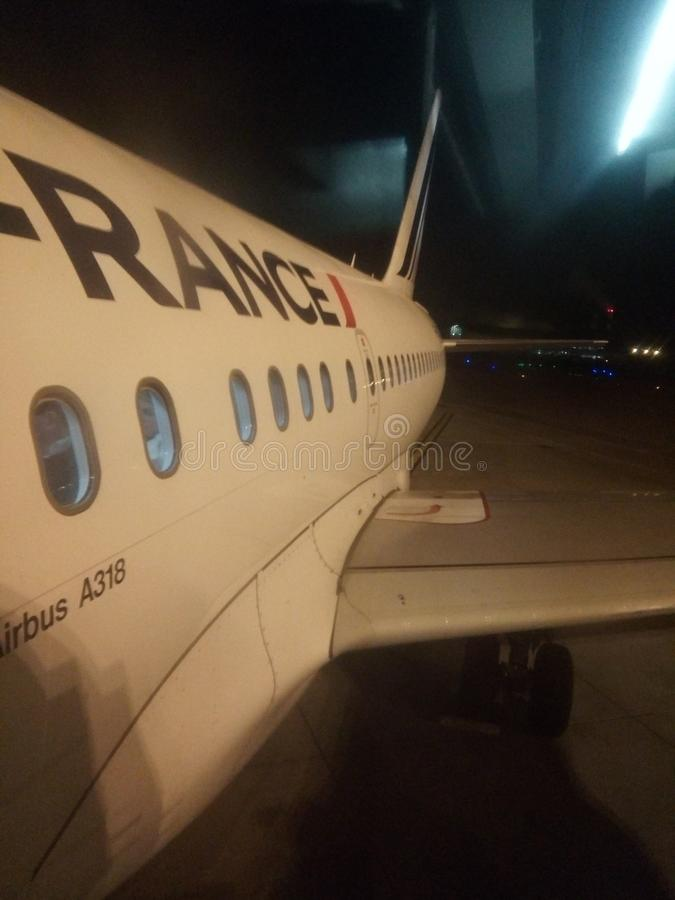 Paris plane airfrance royalty free stock photos