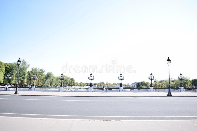Paris Pont Alexandre III foto de stock royalty free