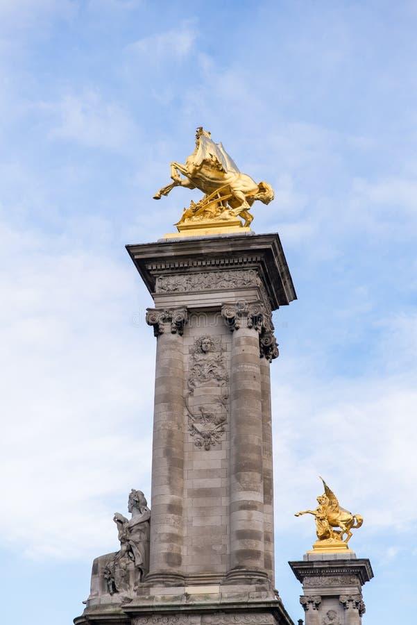 Paris, pont Alexandre III stock photos