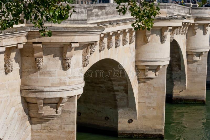Paris, Pont Neuf detail royalty free stock photos
