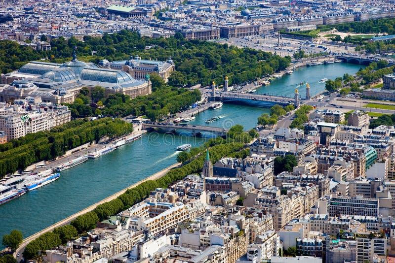 paris powietrzny widok fotografia royalty free
