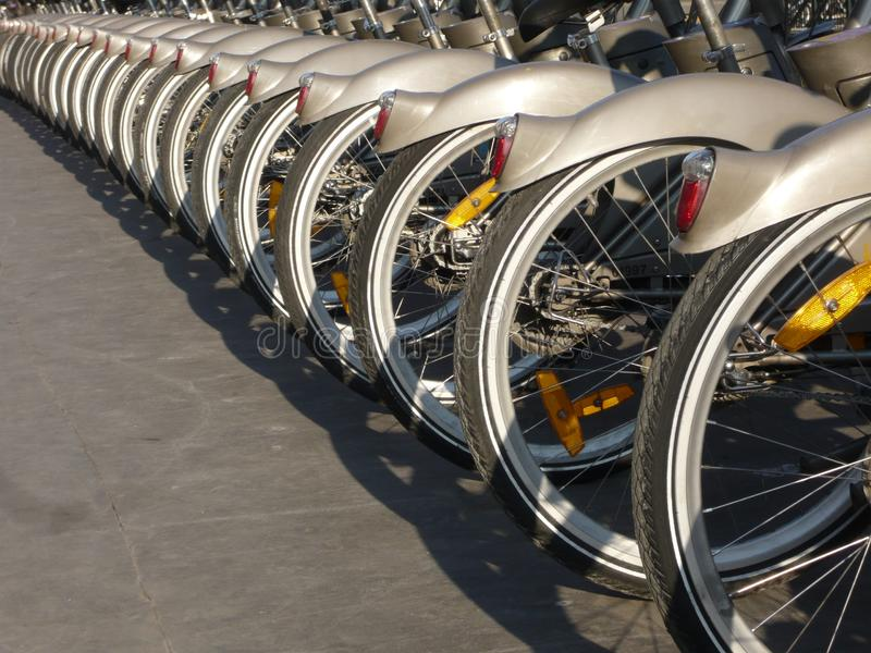 Download Paris Rental Cycle stock image. Image of friendly, tyres - 8237179
