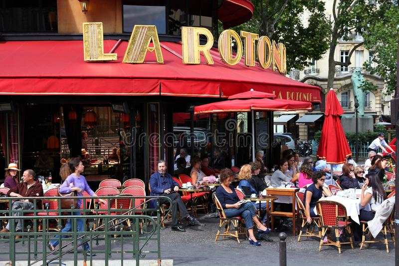 Paris restaurang royaltyfri bild