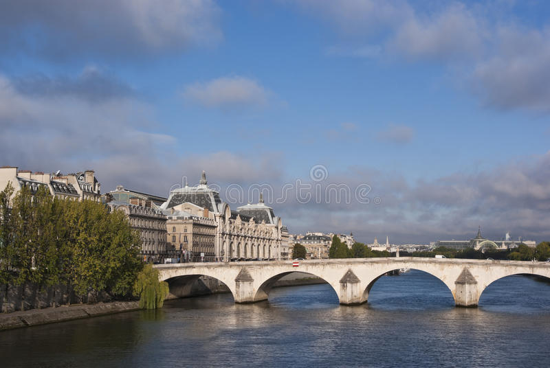 Download Paris and River Seine stock image. Image of royal, interest - 21362729