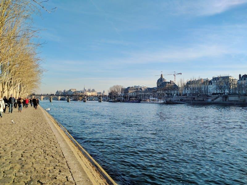 Paris and the river Seine, Paris, France royalty free stock image