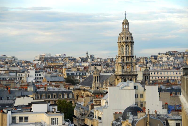 Paris rooftops stock photos