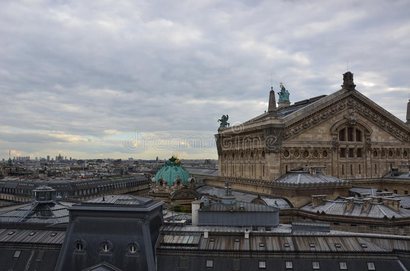 Download Paris rooftops stock image. Image of europe, france, roof - 21074891