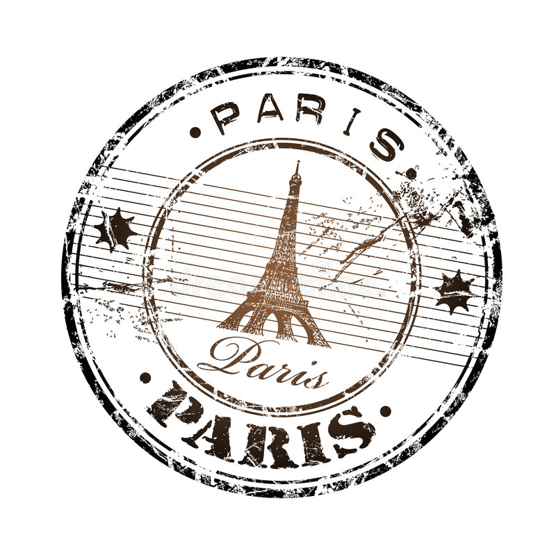 Paris rubber stamp vector illustration