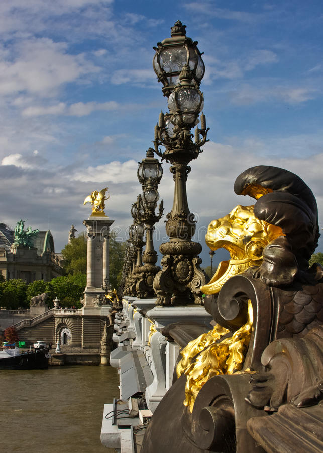 Paris S Pont Alexandre III And Grand Palais Royalty Free Stock Photo