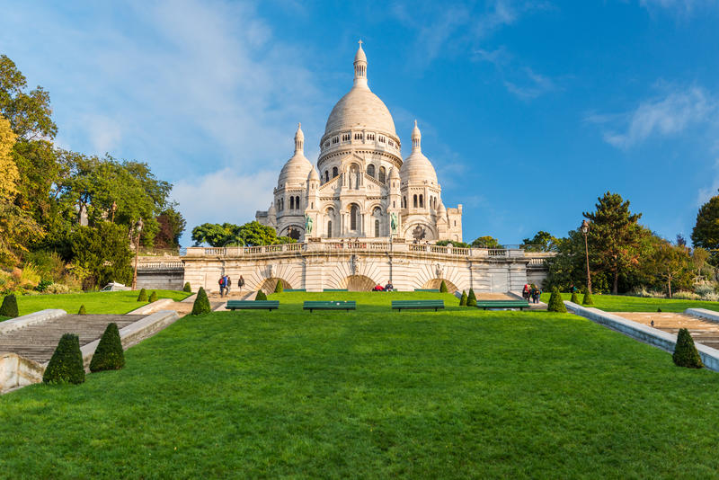 Paris - Sacre-Coeur fotografia de stock