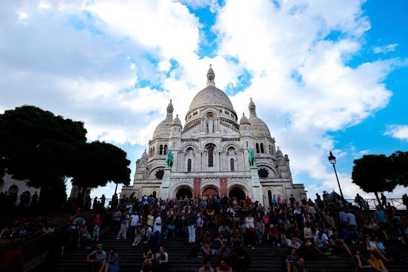 Paris Sacre Coeur 1 fotografering för bildbyråer
