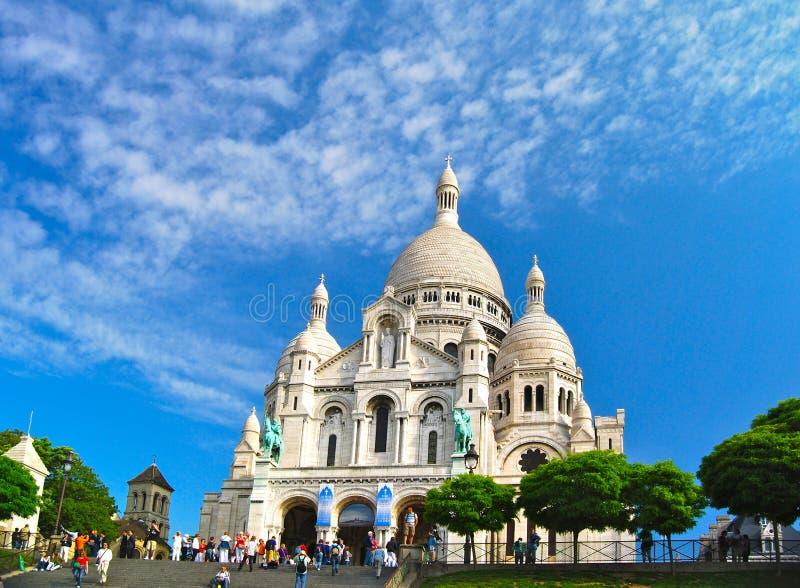 Paris Sacre Coeur Church Against Blue Sky royalty free stock images