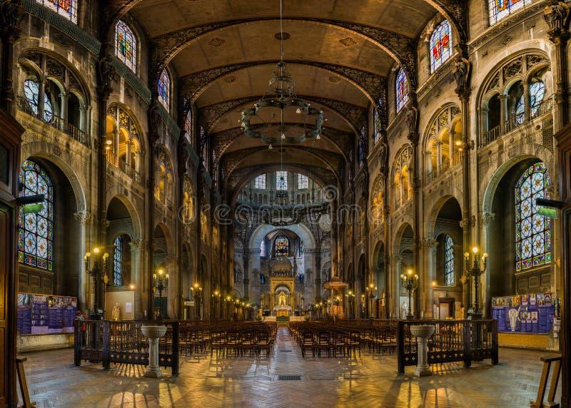 Paris - Saint Augustin Church foto de stock