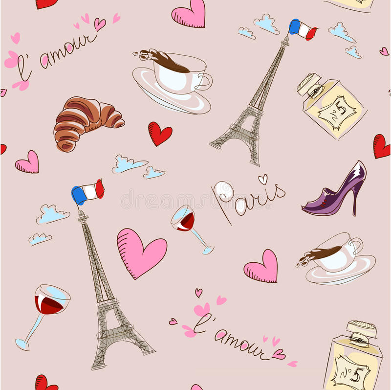 Paris seamless modell 向量例证