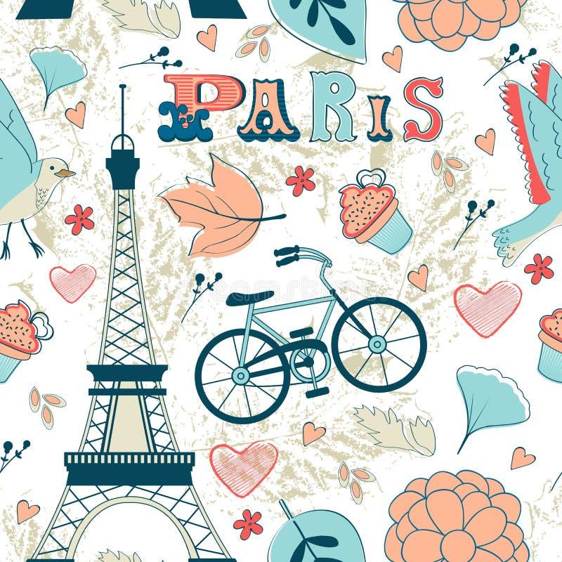 Paris seamless pattern royalty free illustration