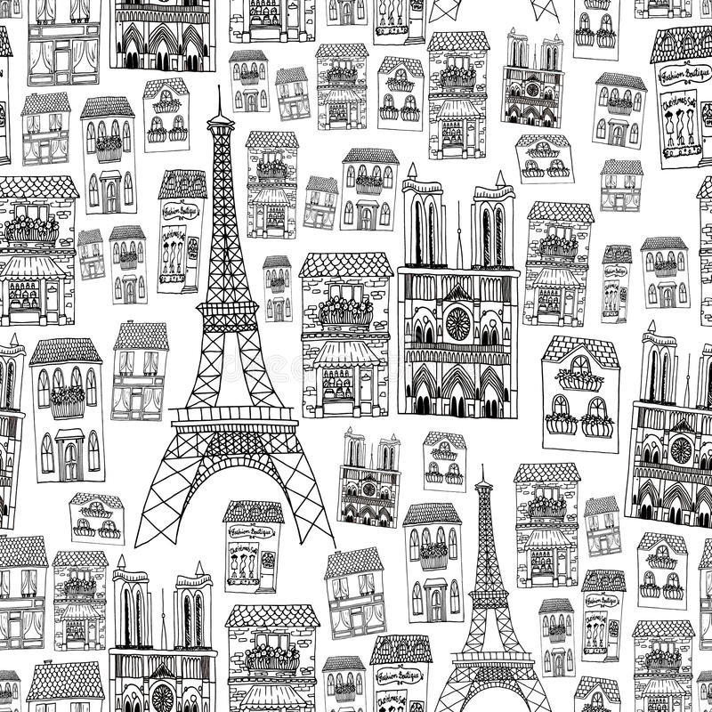 Paris seamless pattern royalty free stock image