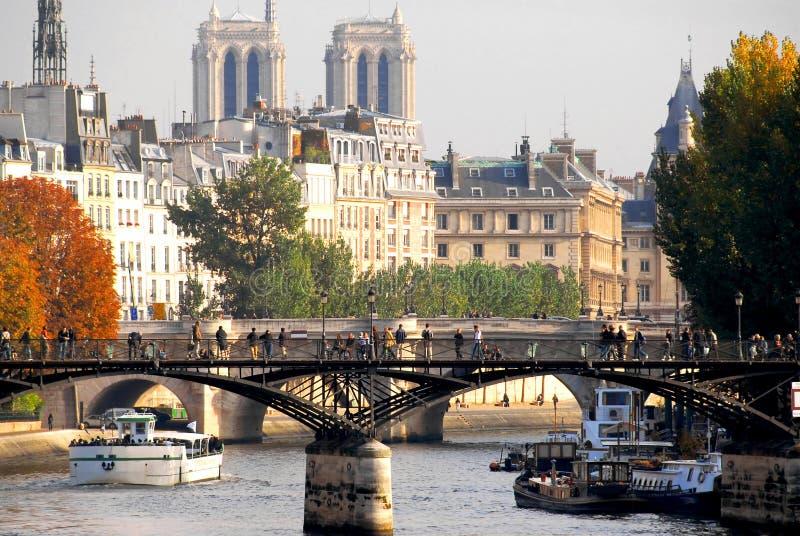 Paris Seine stockfoto
